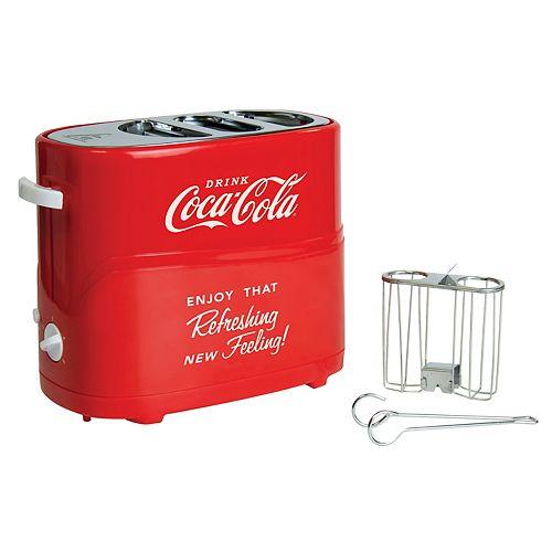Nostalgia Nostalgia HDT600COKE Coca-Cola Pop-Up Hot Dog Toaster