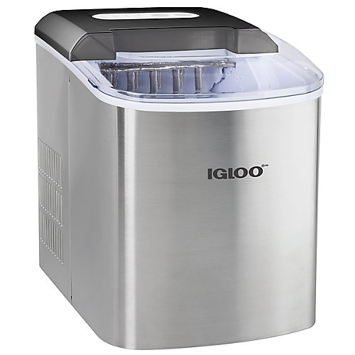 Igloo ICEB26SS 26-Lb. Automatic Ice Cube Maker, Stainless Steel