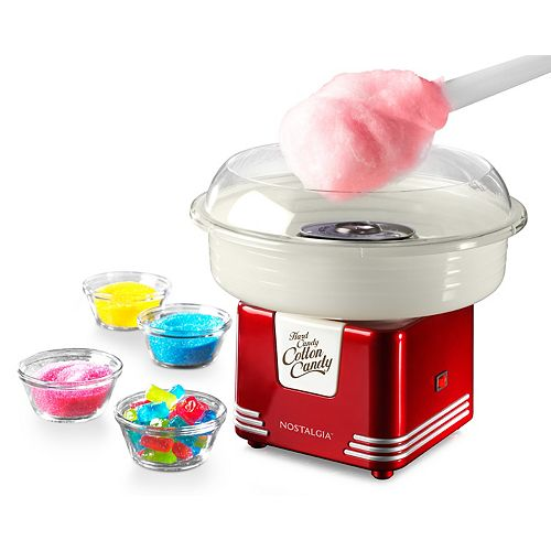 Nostalgia PCM405RETRORED Rétro dur et sans sucre Candy Cotton Candy Maker