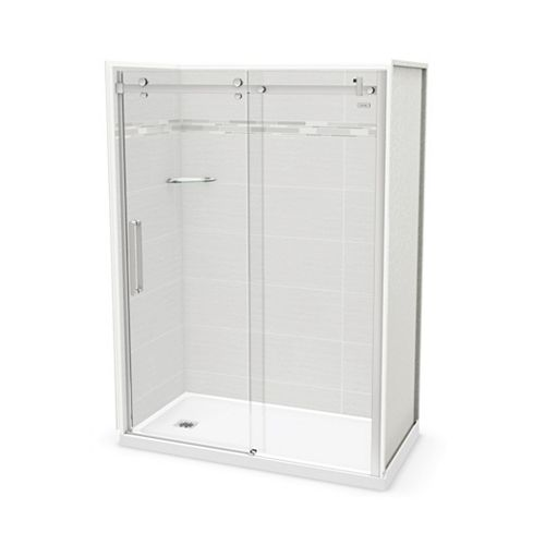 Utile 60-inch x 32-inch x 84-inch Origin Arctik Alcove Shower, Left Drain, Halo Door Chrome