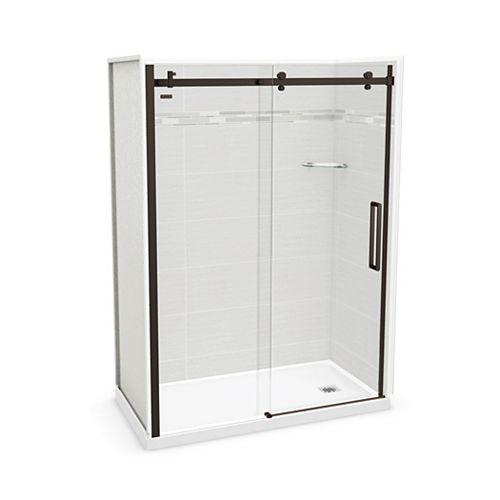 Utile 60-inch x 32-inch x 84-inch Origin Arctik Alcove Shower, Right Drain, Halo Door Dark Bronze