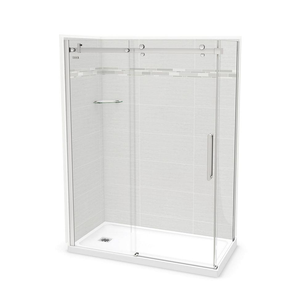 MAAX Utile 60-inch x 32-inch x 84-inch Origin Arctik Corner Shower, Left Drain, Halo Door Chrome