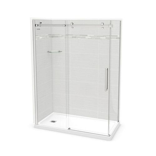 Utile 60-inch x 32-inch x 84-inch Origin Arctik Corner Shower, Left Drain, Halo Door Chrome