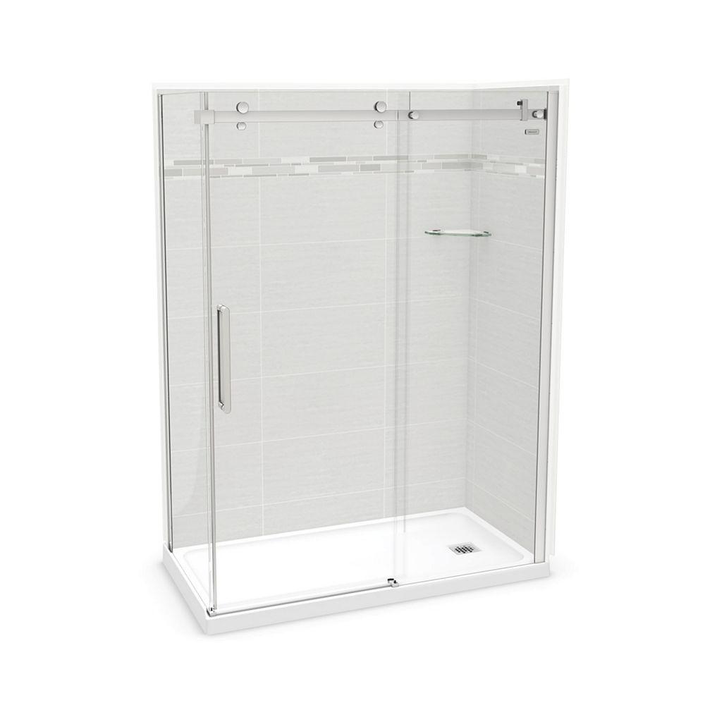 MAAX Utile 60-inch x 32-inch x 84-inch Origin Arctik Corner Shower, Right Drain, Halo Door Chrome