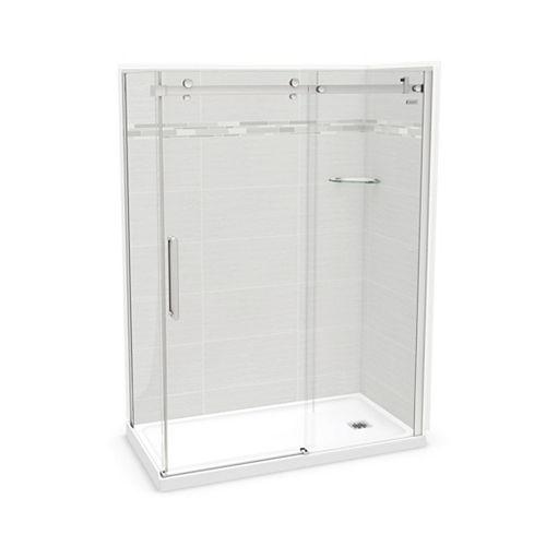 Utile 60-inch x 32-inch x 84-inch Origin Arctik Corner Shower, Right Drain, Halo Door Chrome