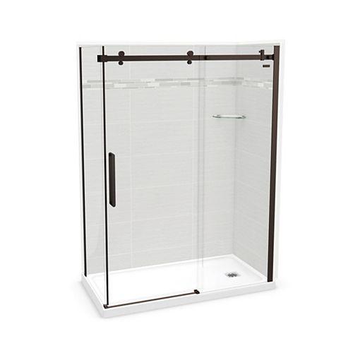 Utile 60-inch x 32-inch x 84-inch Origin Arctik Corner Shower, Right Drain, Halo Door Dark Bronze