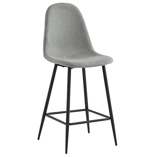 26'' COUNTER STOOL, SET OF 2 -GREY/WALNUT LEG