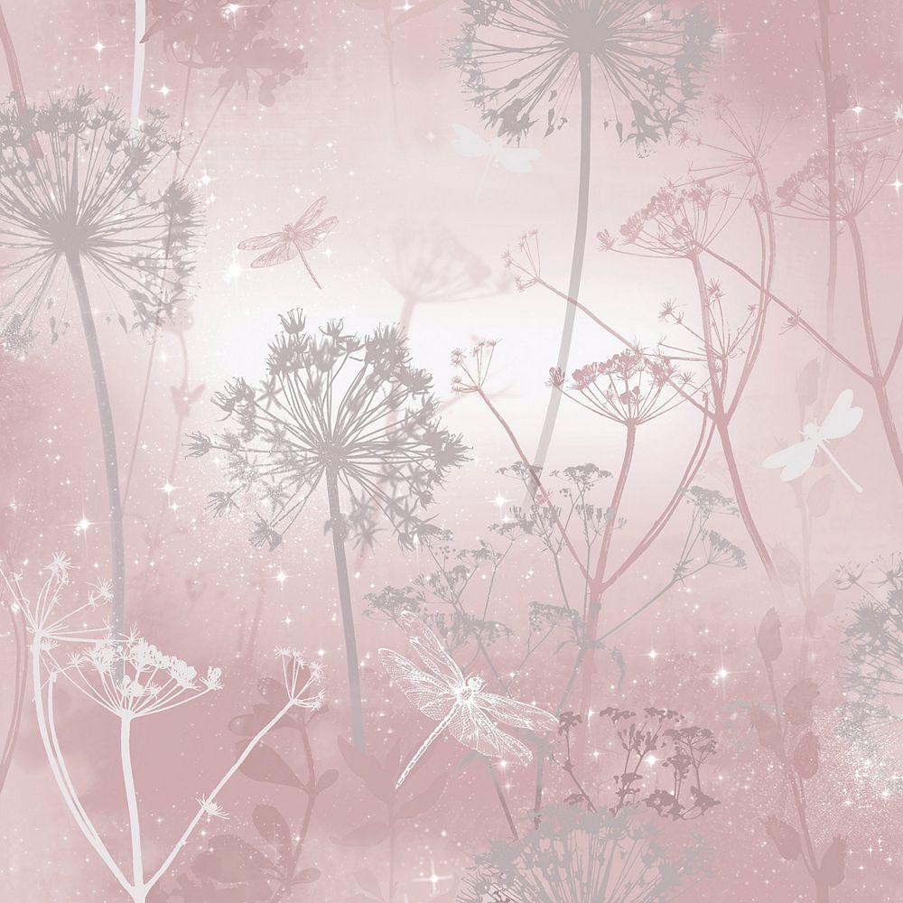 Arthouse Damselfly Blush Wallpaper