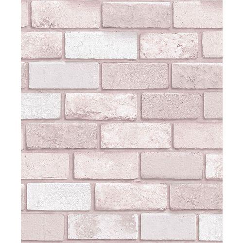 Diamond Pink Brick Wallpaper