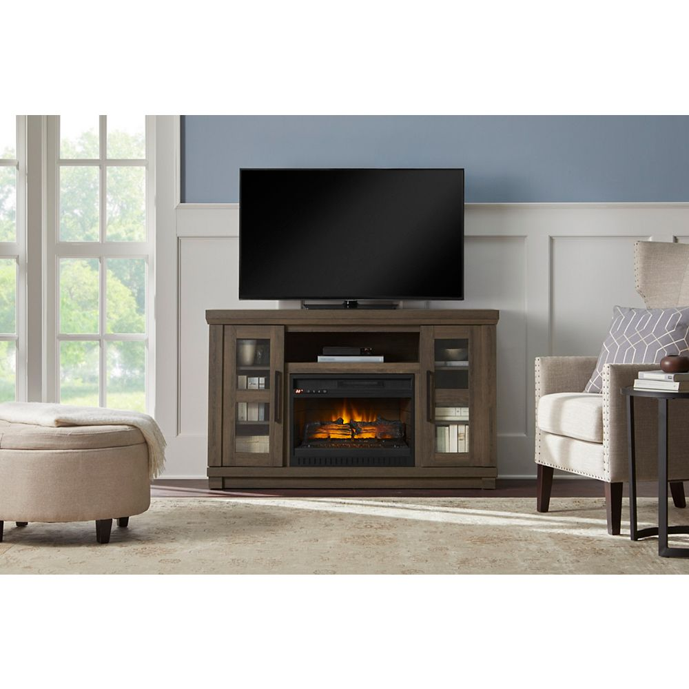 Home Decorators Collection Caufield 54 Inch Infrared Media Electric Fireplace The Home Depot Canada