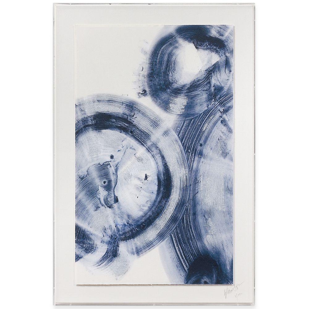 Empire Art Direct Quasars IV Feuille de métal sur papier abstrait acrylique boîtes à ombre mur Art