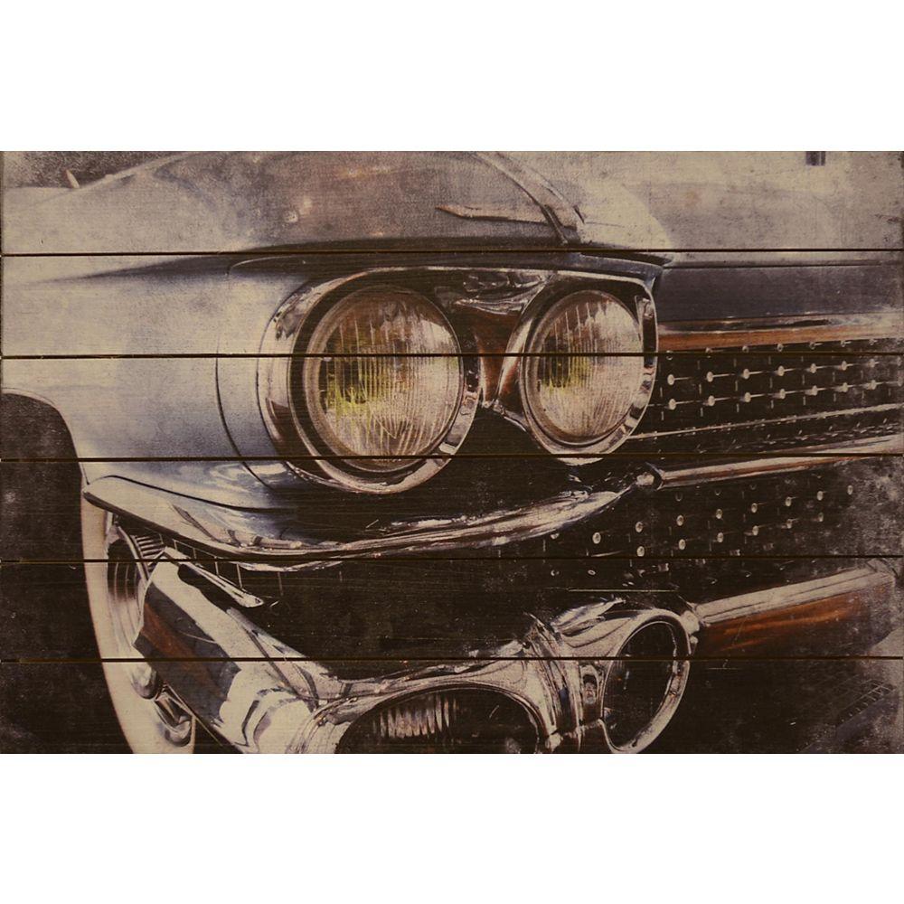 Empire Art Direct Cadillac Arte de Legno Digital Print on Solid Wood Wall Art