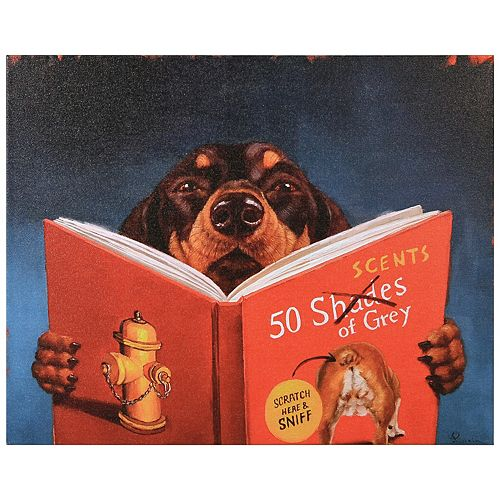 Empire Art Direct 50 SCENTS OF GREY Graphic Art Print on Wrapped Canvas Dog Wall Art