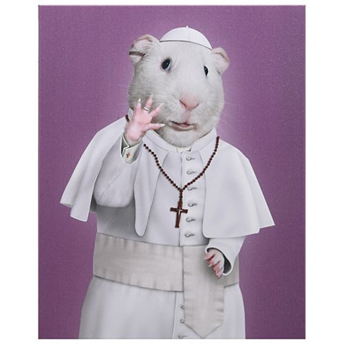 Empire Art Direct Pets Rock Church Graphic Art on Wrapped Animal Canvas Wall Art