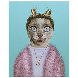 Pets Rock Twerk Art graphique sur toile de chat enveloppé Art mural