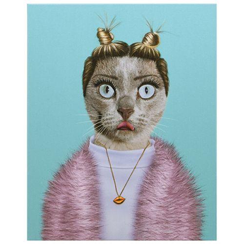 Pets Rock Twerk Graphic Art on Wrapped Canvas Cat Wall Art