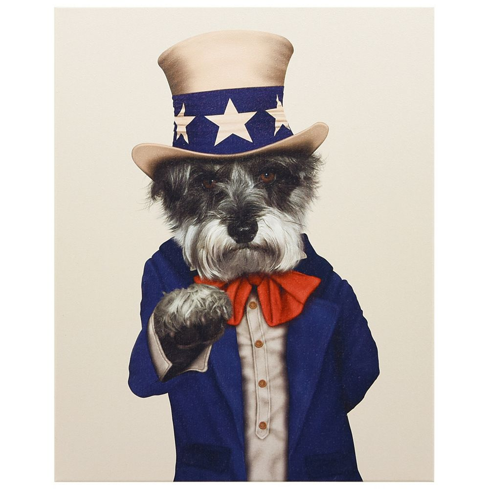 Empire Art Direct Pets Rock Uncle Sam Graphic Art on Wrapped Canvas Dog Wall Art