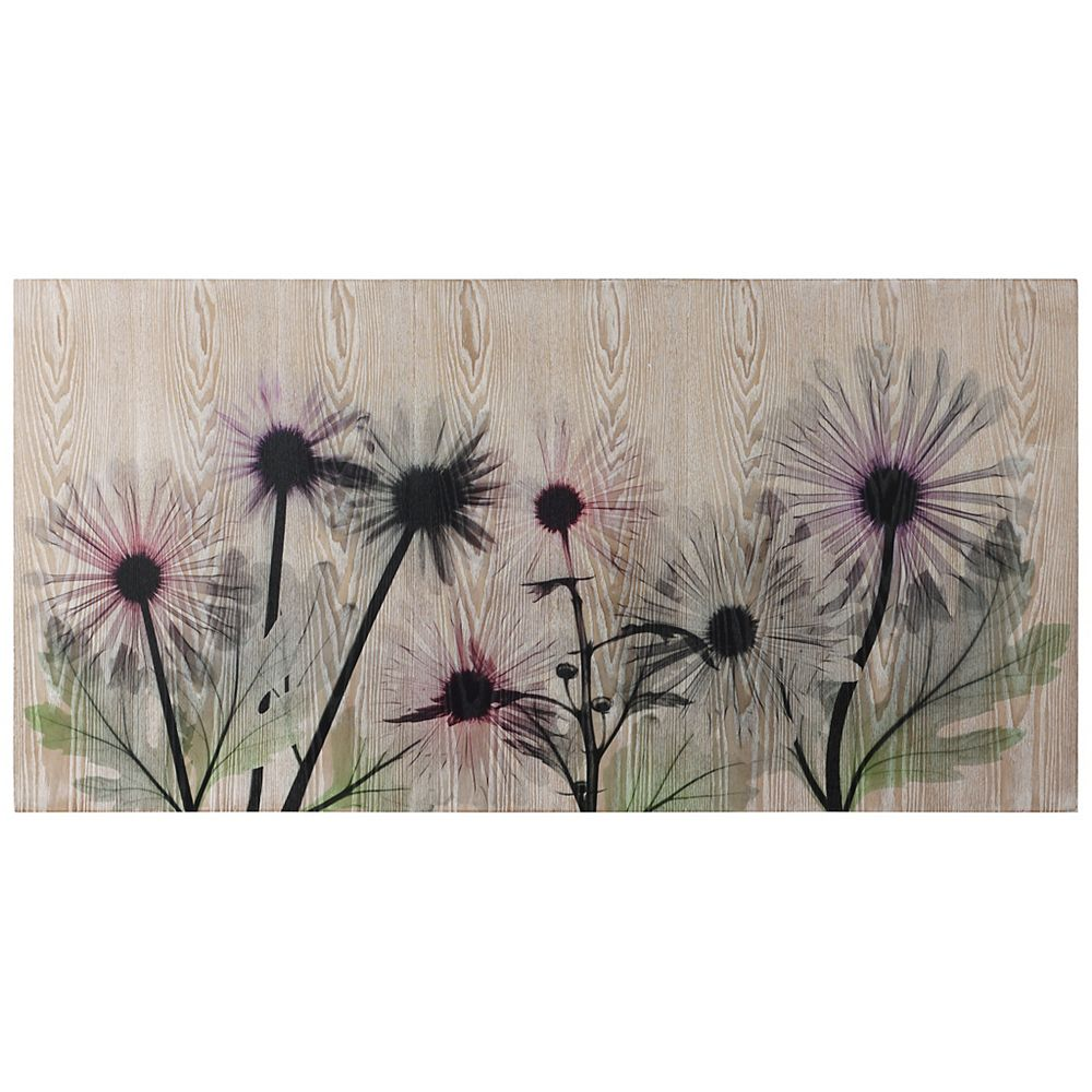 Empire Art Direct Wild Flowers Fine Giclee Printed Directly on Hand Finished Ash Wood Wall Art