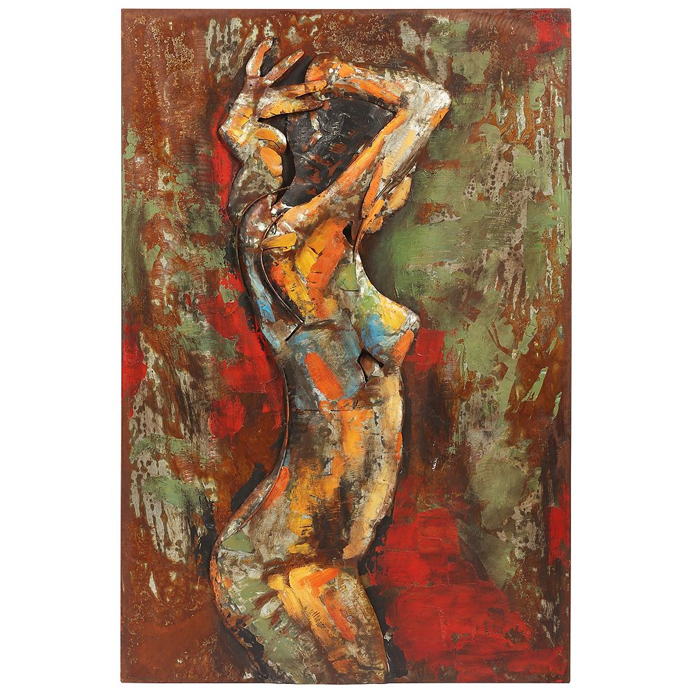 Empire Art Direct Nude Study 3 Mixed Media Iron Hand Painted Dimensional Wall Art