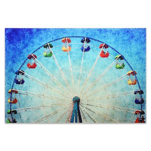 Empire Art Direct Ferris Wheel Frameless Free Floating Tempered Glass Panel Graphic Wall Art