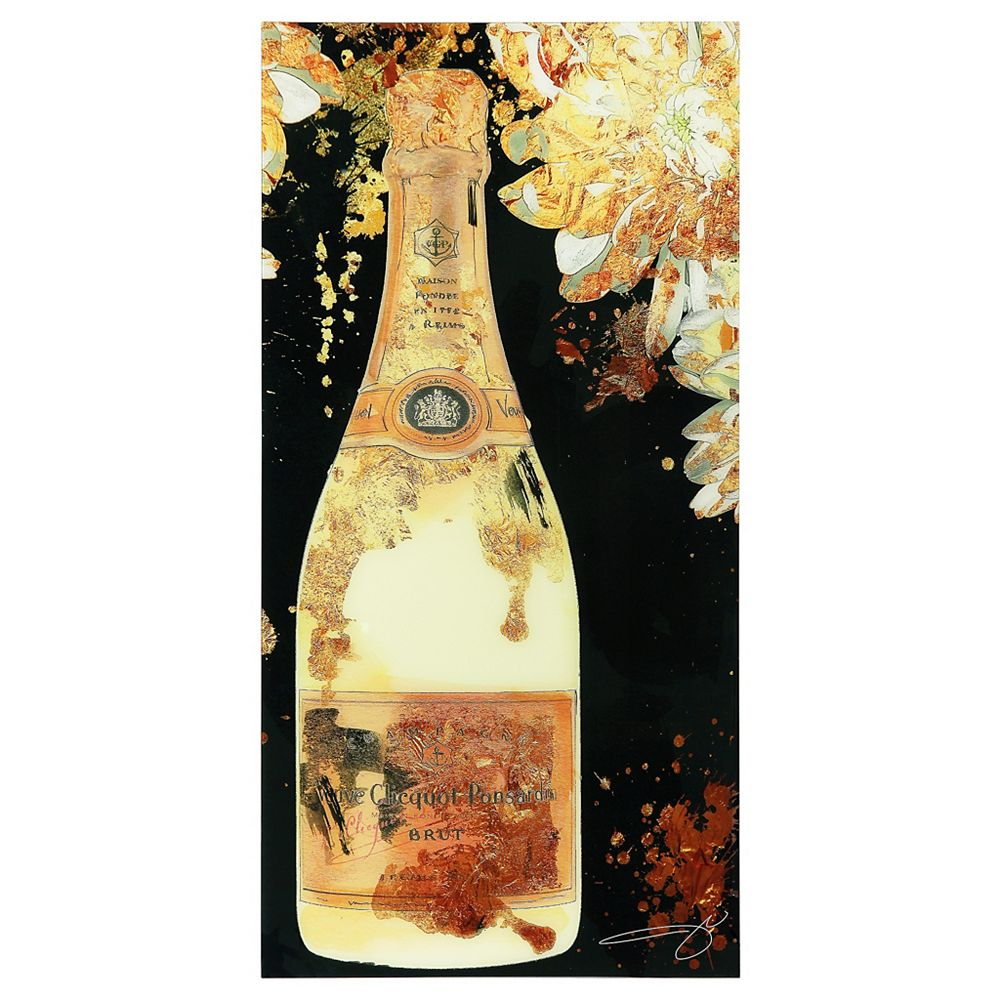 Empire Art Direct Let's Celebrate Frameless Free Floating Tempered Glass Panel Graphic Wall Art