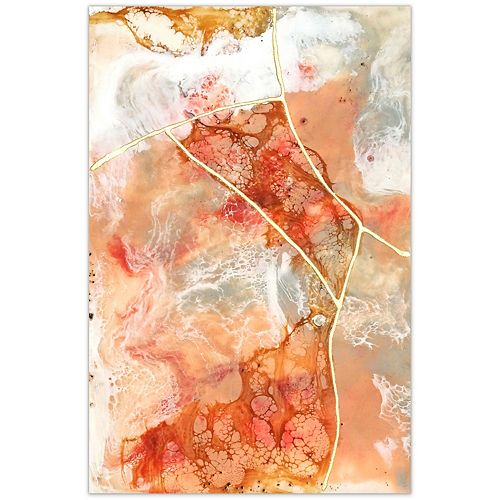 Empire Art Direct Coral Lace I Frameless Free Floating Tempered Glass Panel Graphic Wall Art