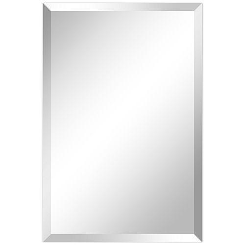 Frameless Beveled Prism Rectangle Wall Mirror