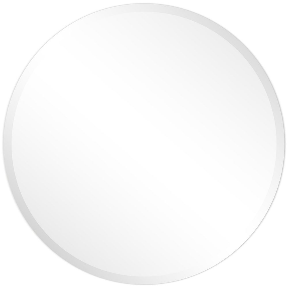 Empire Art Direct Frameless Beveled Round Wall Mirror