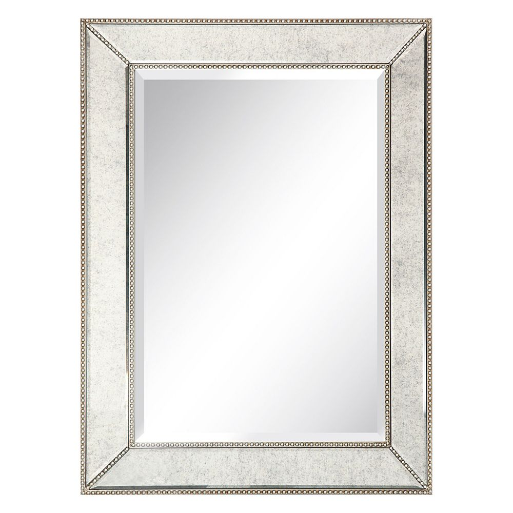 Empire Art Direct Champagne Beed Beveled Rectangle Wall Mirror