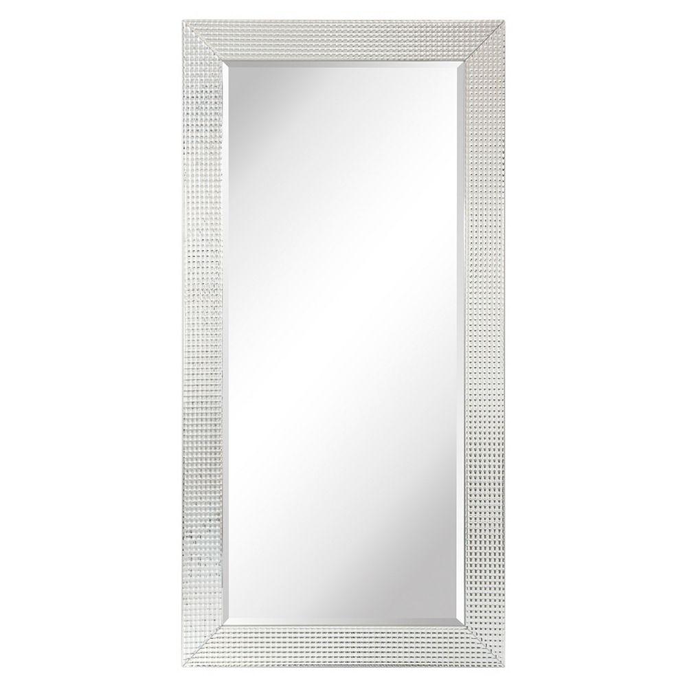 Empire Art Direct Rectangulaire en verre biseauté Bling Leaner