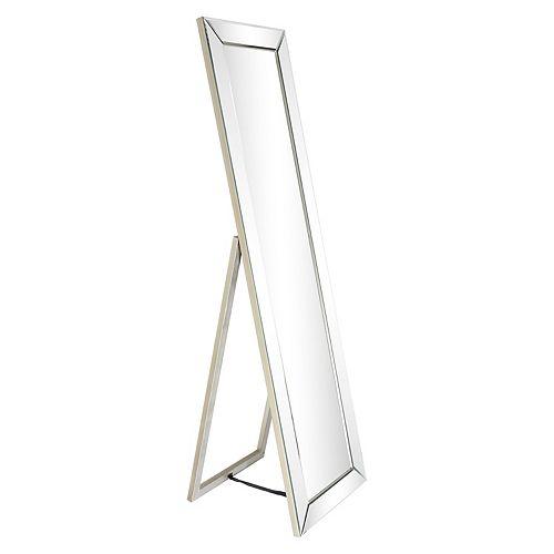 Moderno Beveled Rectangle Cheval Mirror