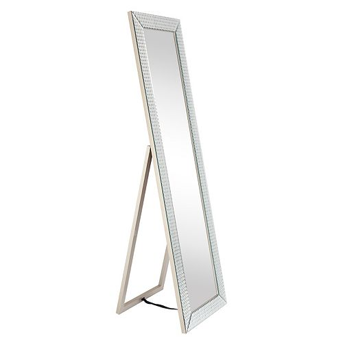 Empire Art Direct Bling Beveled Glass Rectangle Cheval Mirror