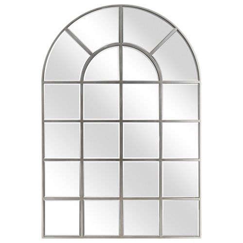 Arch Window Pane Wall Mirror