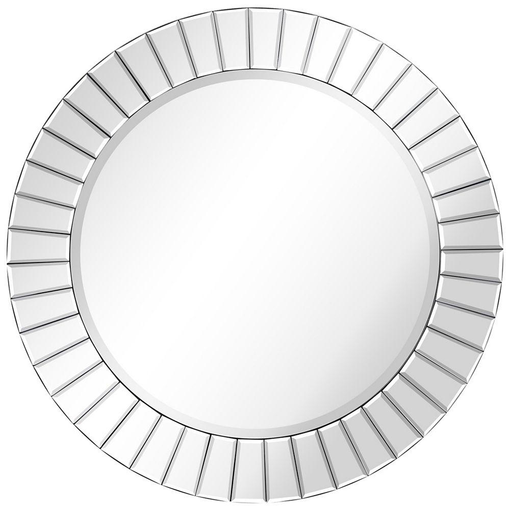 Empire Art Direct Moderno Beveled Round Wall Mirror