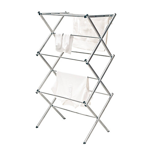 Compact Drying Rack Silver