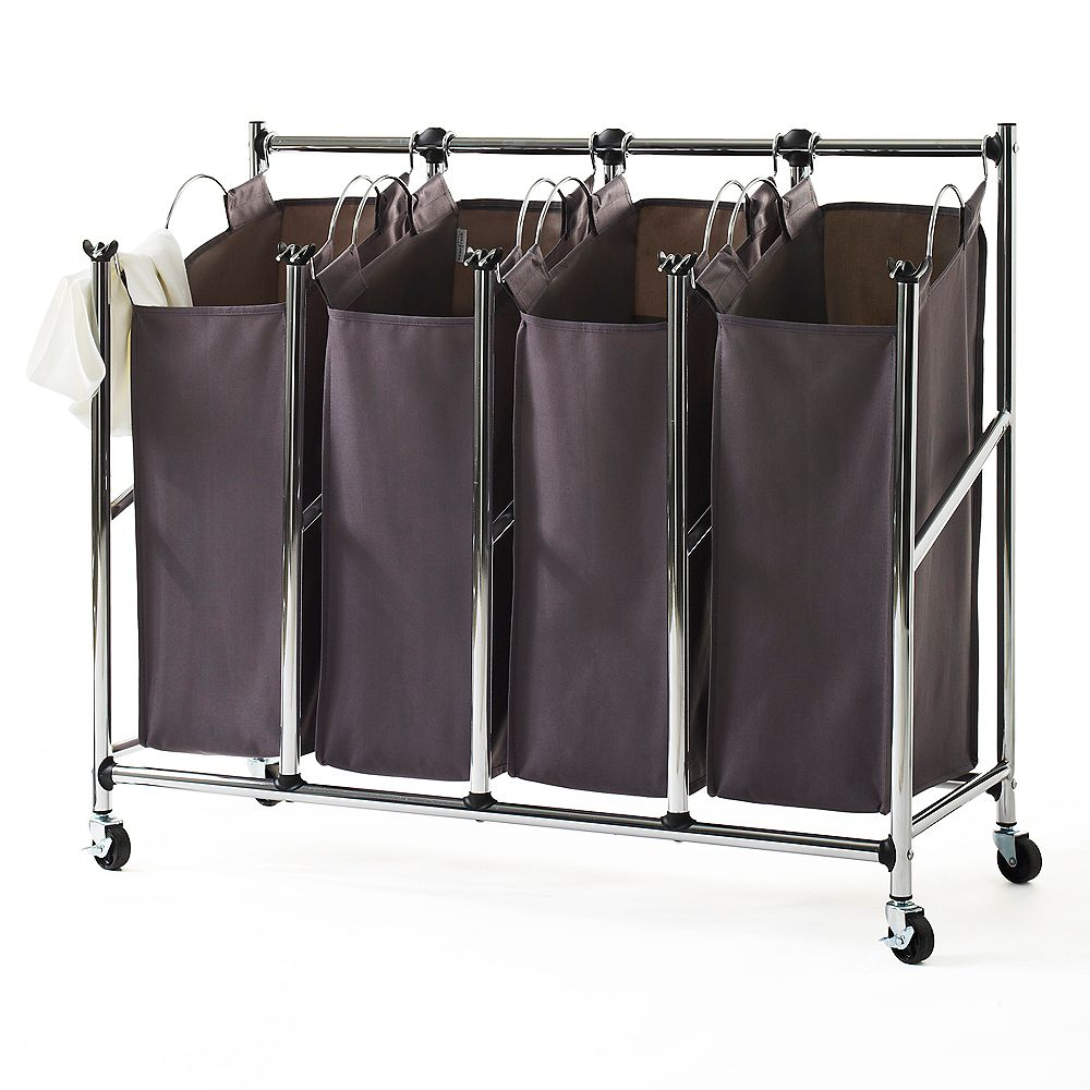 Neatfreak Front-Loading Rolling Quad Laundry Sorter