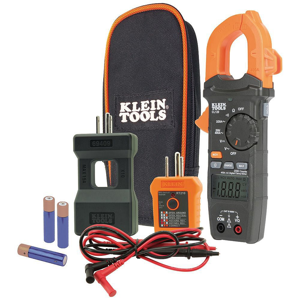 Klein Tools Clamp Meter and Electrical Test Kit