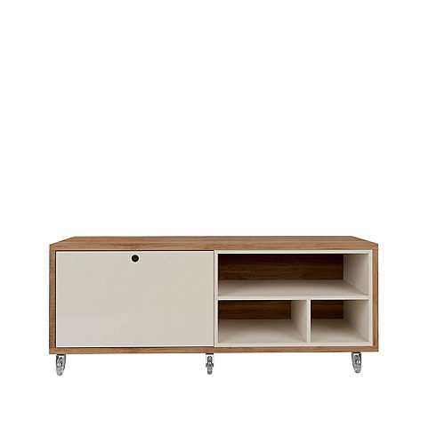 Windsor 53.62 TV Stand in Off White and Nature