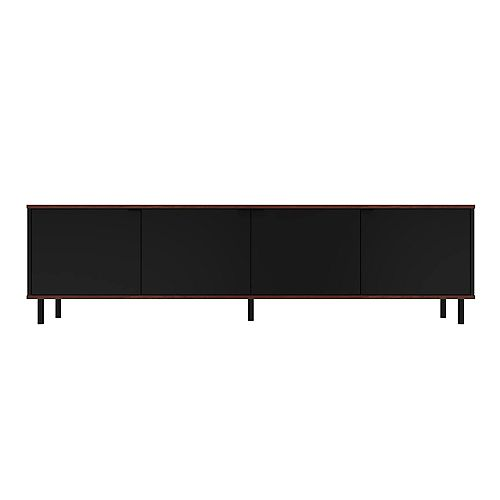 Mosholu 77.04 TV Stand in Black and Nut Brown