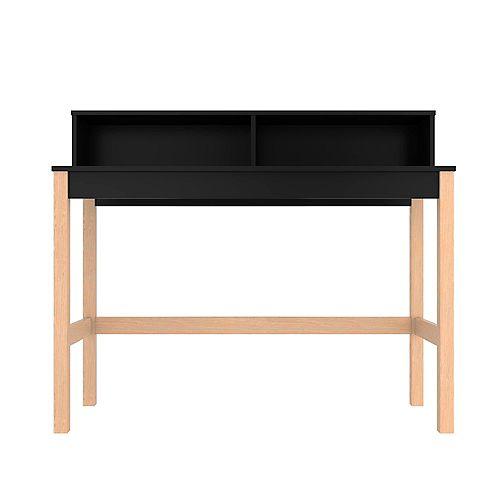 Bowery Desk in Black and Oak