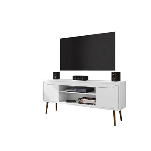 Bradley 62.99 TV Stand in White