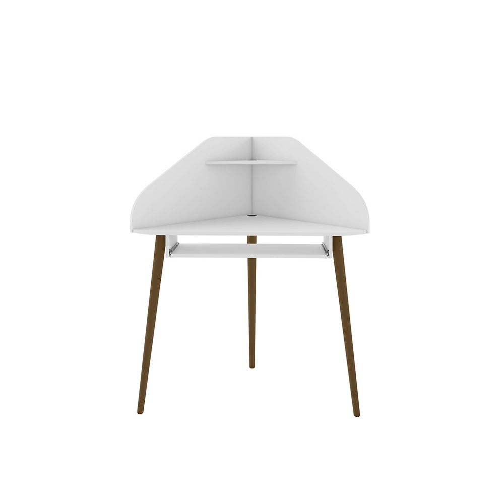 Manhattan Comfort Bradley Corner Desk in White