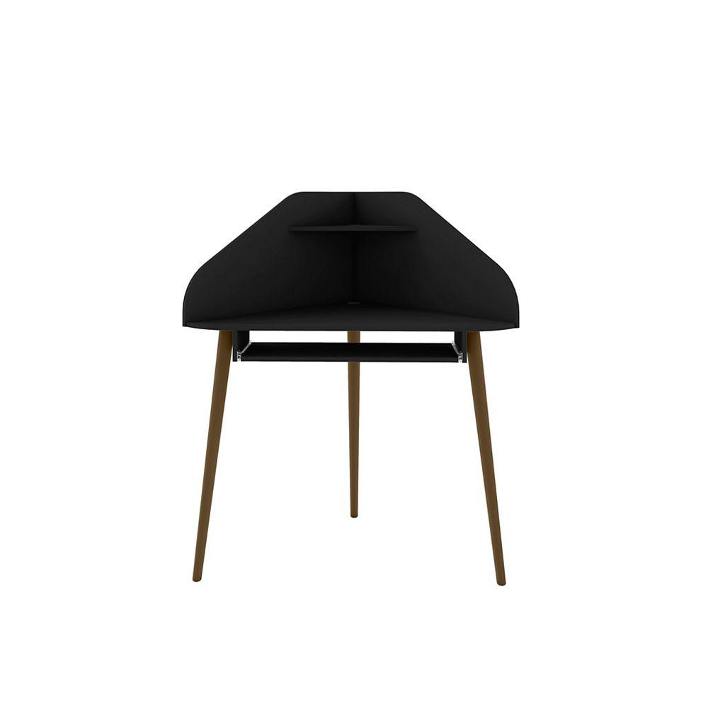 Manhattan Comfort Bradley Corner Desk in Black