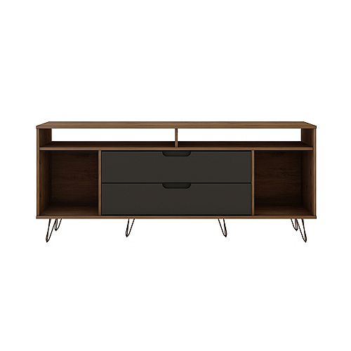 Rockefeller 62.99 TV Stand in Nature and Textured Grey
