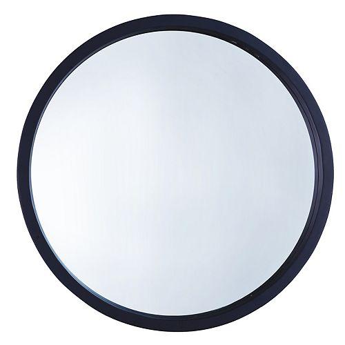 "22"" DIA. Black Round Mirror"
