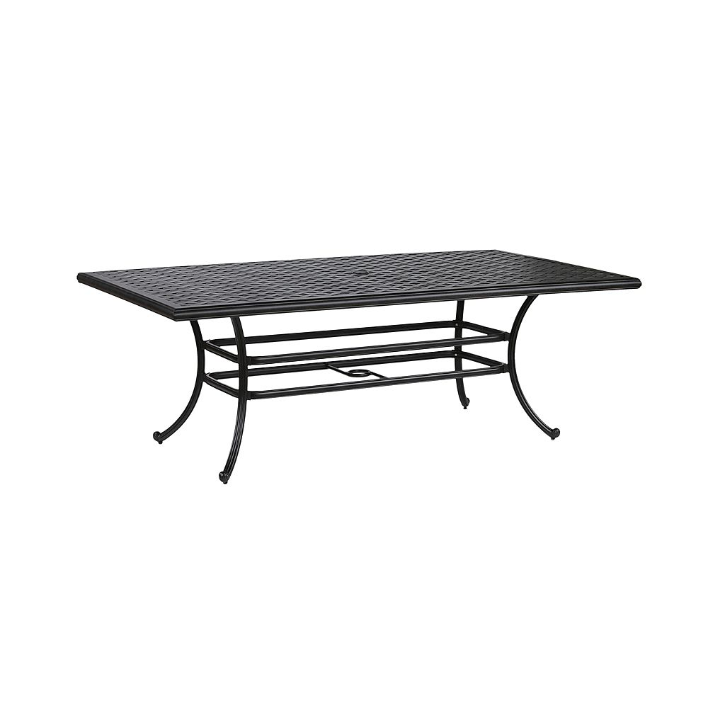 iPatio Table de jardin rectangulaire pour 6 personnes Huron, 46 po x 86 po, aluminium moulé