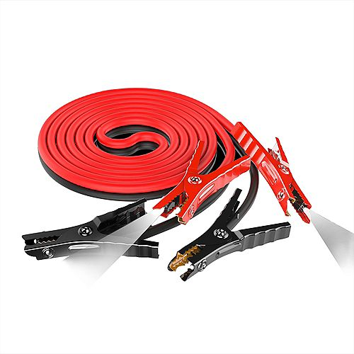 6Ga 12FT LED Lighted Booster Cable