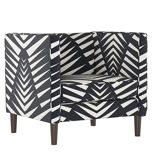 Bucktown Arm Chair in Geo Skin Black White