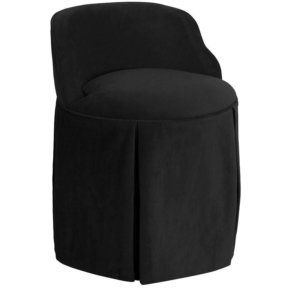 Skyline Furniture Uptown Chaise en Velvet Black