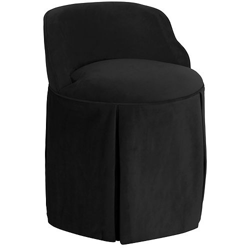 Uptown Vanity Chair in Velvet Black